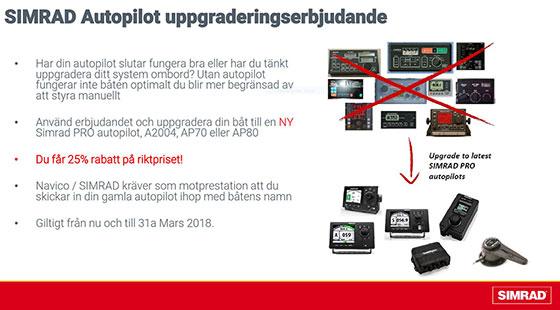 Simrad Autopilot upgrade