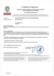 BV Certificate AIS