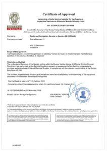 BV Certificate Radio