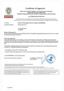 BV Certificate VDR