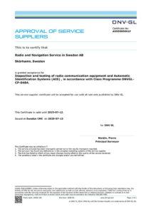 Certificate DNVGL Radio
